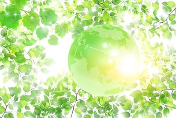 新緑 地球 エコ 背景