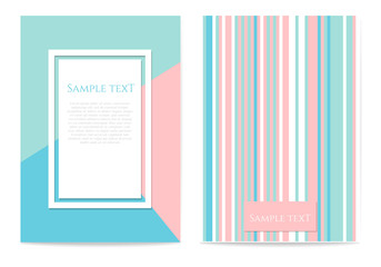 Set of geometric design cards
