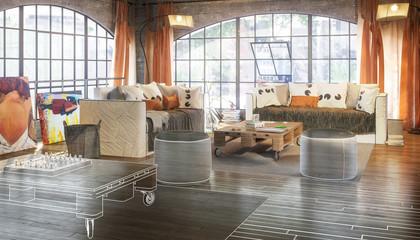 Postindustrial Loft Conception (plan)