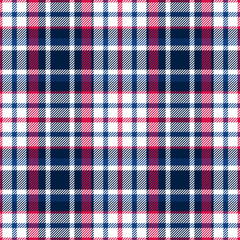 Red and blue plaid seamless pattern. Fabric texture. Vector background eps10