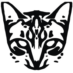 Symmetrical cat face vector illustration