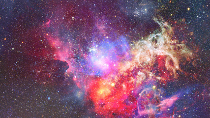 Nebula in space. Cosmic background. Elements of this image furnished by NASA.