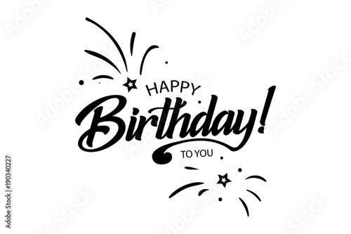 Happy Birthday Card Beautiful Greeting Banner Banner Lettering