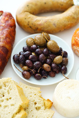Portuguese appetizers on the table