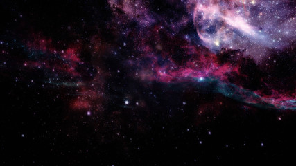 Abstract scientific background - galaxy and nebula in space. Elements of this image furnished by NASA.