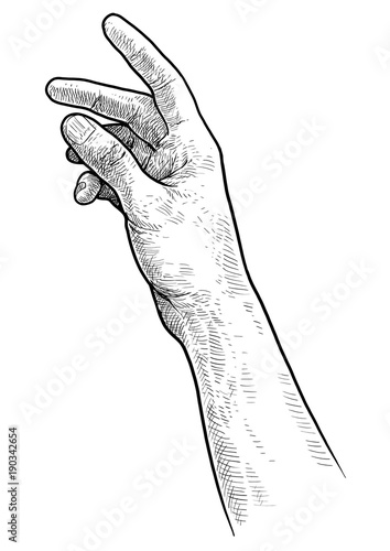 how to draw an arm reaching out