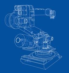 Industrial robot manipulator. Vector image