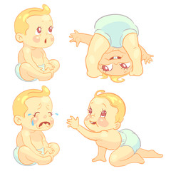 Beauty cartoon emotion baby set