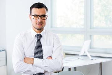 Businessman in an office
