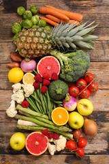 In de dag Keuken fruit and vegetable