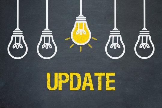 Update / Tafel mt Glühbirnen