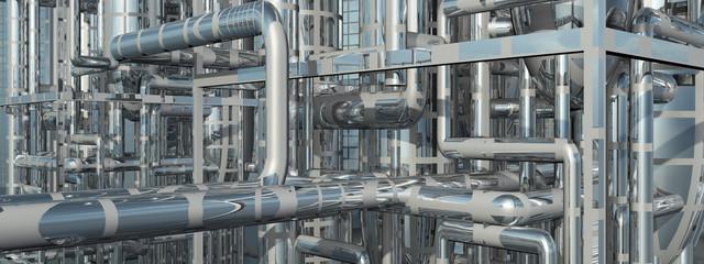 Erdölraffinerie, Detail