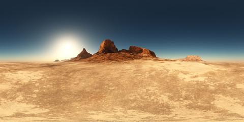 360 Grad Panorama mit einer Wüstenlandschaft