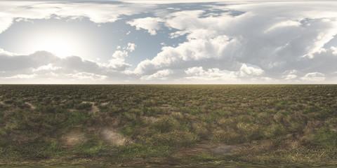 360 Grad Panorama mit einer Steppenlandschaft