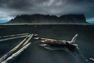Vestrahorn Mountain landscape, Stokksnes, Hornafjordur, Iceland