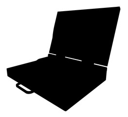 Silhouette of a laptop