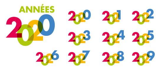 année - objectif - 2020 - 2021 - 2022 - 2023 - 2024 - 2025 - 2026 - 2027 - 2028 - 2029