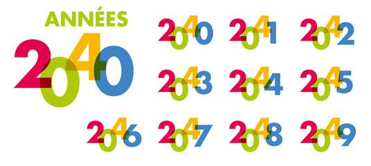 année - objectif - 2040 - 2041 - 2042 - 2043 - 2044 - 2045 - 2046 - 2047 - 2048 - 2049