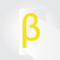 Beta sign symbol design with illustration design