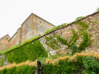 Medieval walls of the Akershus Fortress. Oslo, Norway