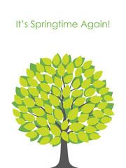 新緑の木 イラストレーション