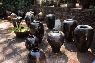 earthenware ceramics for sale on table