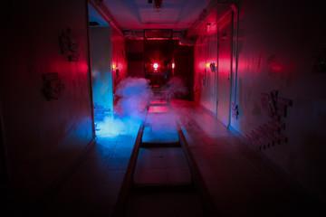 room fear quest rails danger smoke basement dark horror