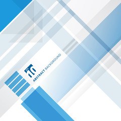 Abstract blue and white technology geometric shape corporate design background