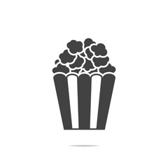 Popcorn icon vector isolated