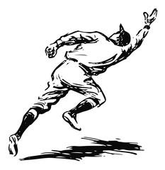 Baseball Spieler (Feldspieler) - baseball player (Fielder)