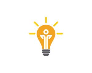light bulb symbol logo template