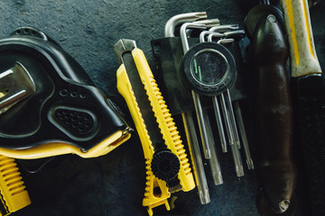 Background of the tools of the present master. a set