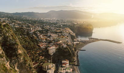 Sunset at Sorrento, Naples,Italy.