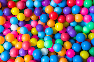 colorful plastic balls background, toy balls for kid
