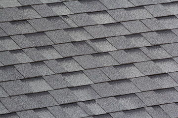grey and black roof shingles