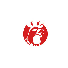 minimal chicken logo Vector illustration.