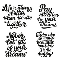 Set of hand drawn quotes