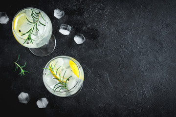 Canvas Prints Cocktail Gin and tonic cocktail
