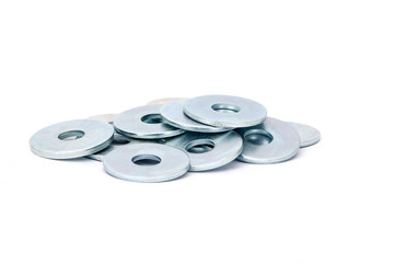 Metallic stainless steel fender washers