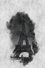 Pinsel und Öl Gemälde des Eiffelturm Paris