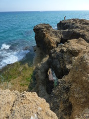Tamarit, zona costera junto al mar Mediterráneo en el término municipal de Tarragona (España)