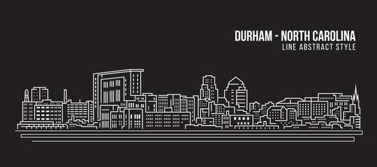 Cityscape Building Line art Vector Illustration design - durham city (north carolina)