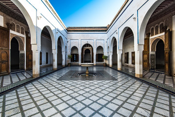 Beautiful courtyard in Bahia Palace,Morocco