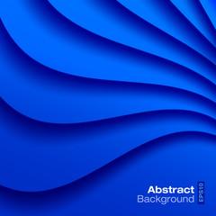 Blue Wavy Background. Vector illustration.