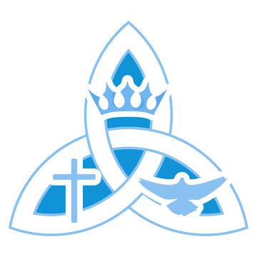 Vector illustration for Christian community: Holy Trinity. Trinity symbol.