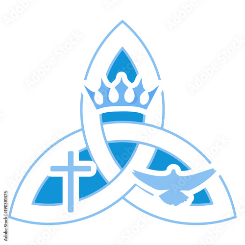 Vector Illustration For Christian Community Holy Trinity Trinity