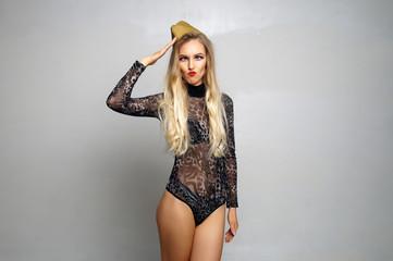 beautiful sexy girl posing in lingerie