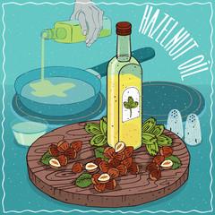 Hazelnut oil used for frying food