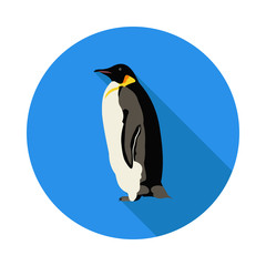 flat icon penguin
