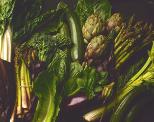 Grünes Gemüse ,bildfüllend